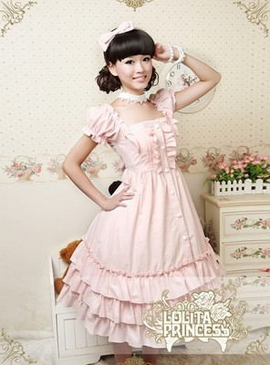 (LLT010) longue sans manches doux Lolita robe courte robe de bal fantaisie robe de bal Halloween fête mascarade Costume