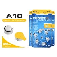 36 шт. Размер 10 Кнопка слухового аппарата батарея помощи 1,45 в ZA10 PR70 10AE P10 цинковые воздушные батареи монета батарея