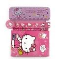1 Unidades alta calidad de hello kitty caja de lápiz para las niñas niños kawaii material escolar papelería conjunto de dibujos animados de regalo caja de lápiz
