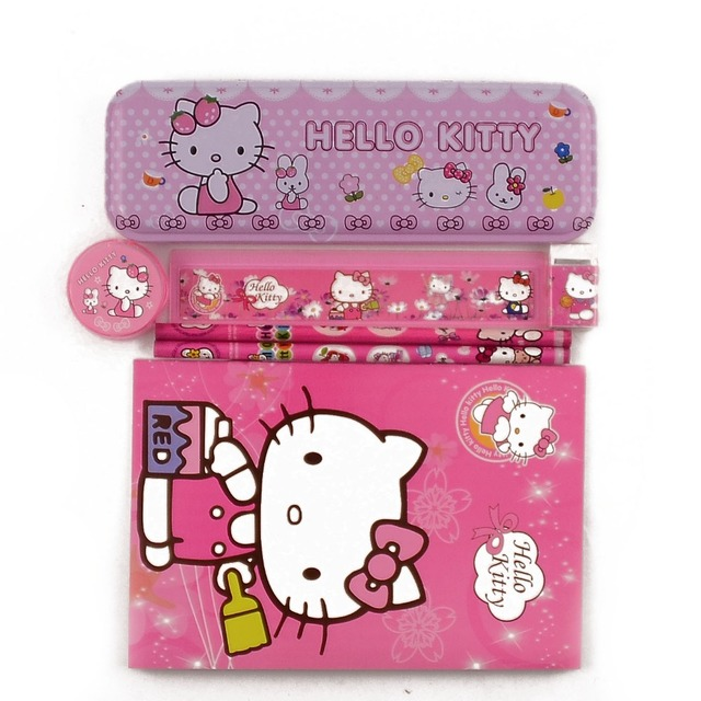 b87266eb4f 1 set high quality hello kitty pencil case for girls kawaii children school  supplies stationery set