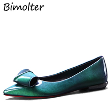 Bimolter Fashion Women Bling Patent Leather Shoes Pointed Toe Flats Luxury Shoes Woman Dress Party Comfortable Footwear PFEA021 цена в Москве и Питере