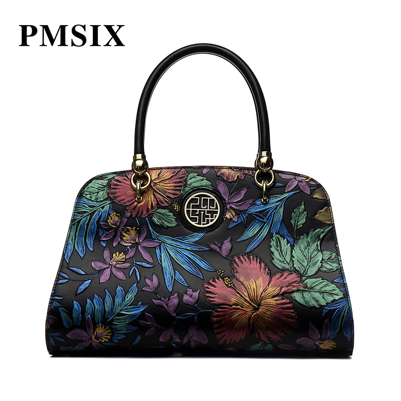 PMSIX fashion casual Vintage Floral Printing clutch bag luxury handbags women bags designer casual floral
