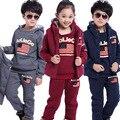 2016 Neutral Virgin Suit New Private Fleece Winter Flag Three-piece Suit Children's Clothes