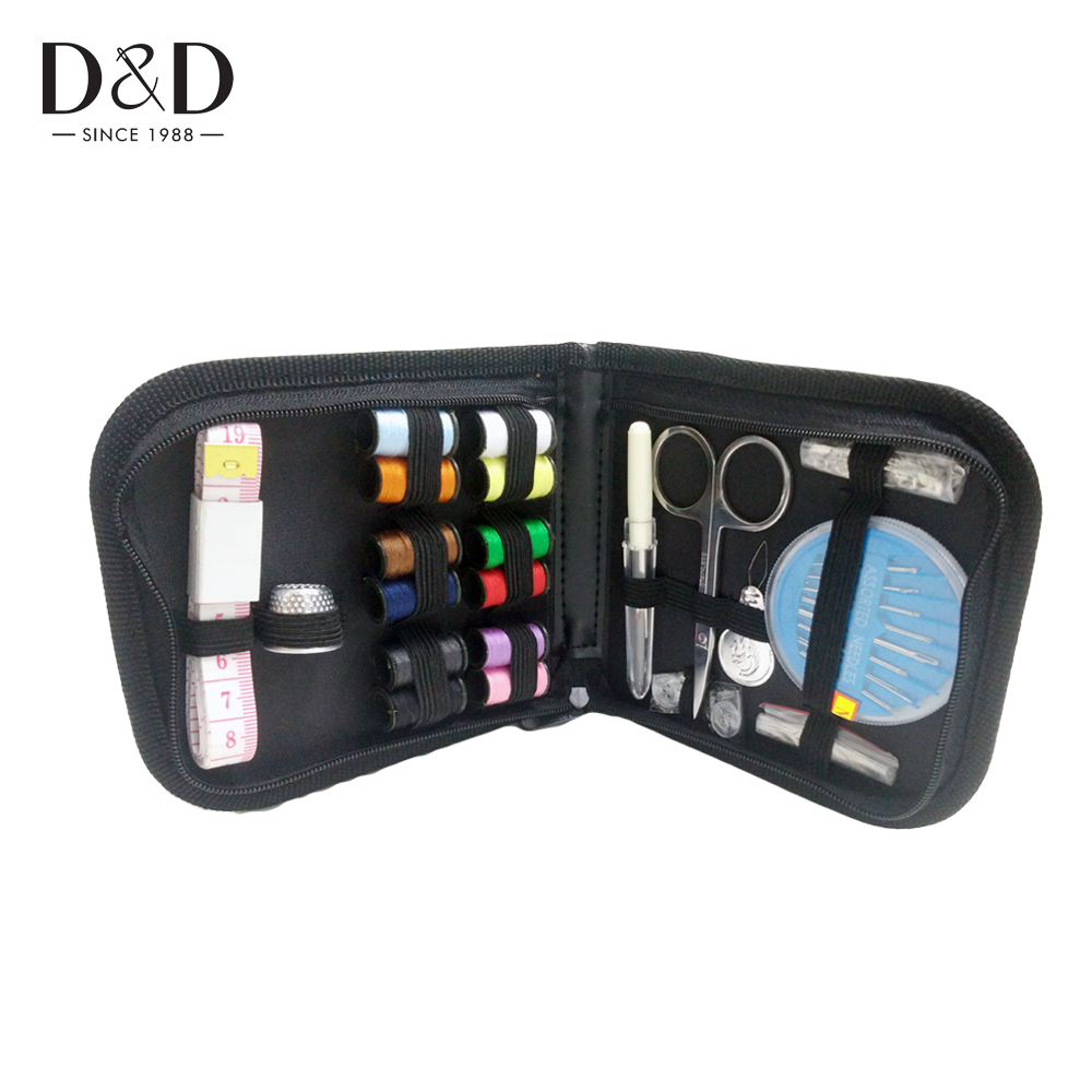 D&D 12 Threads Portable Travel Sewing Kits for Quilting Stitching Hand Sewing Tools 4 Colors