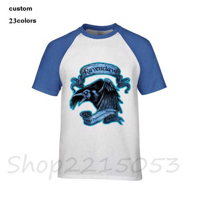 c0f26a8d44b Hogwarts Slytherin Magic School T Shirt Men Boy Fashion White Short Sleeve  Custom 3XL Couple Ravenclaw Hogwarts TShirt T-Shirts