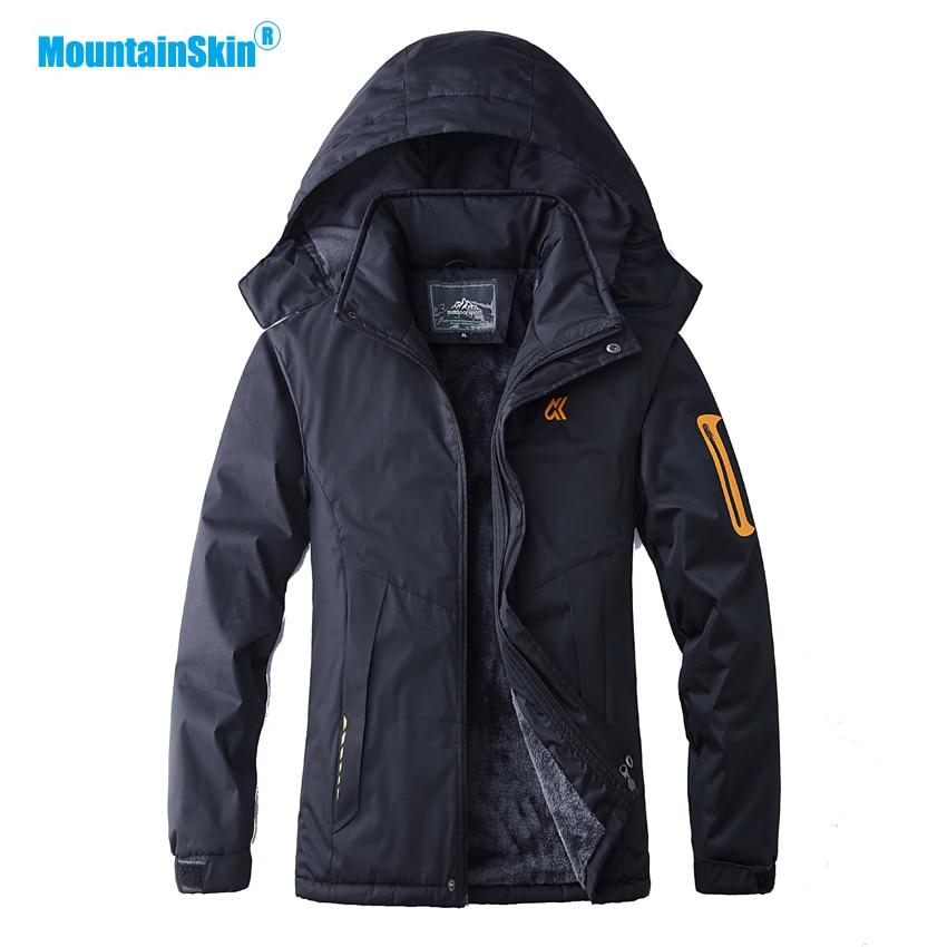 Mountainskin Men's Winter Thick Fleece Thermal Jacket Outdoor Sport Windbreaker Hiking Camping Trekking Skiing Brand Coats MA197
