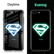 Luxury Batman Marvel Luminous Tempered Glass Cases For iPhone XS MAX XR 8 7 6 6s Plus X Samsung S8 S9 S10 Plus Note8 Note9 Cover