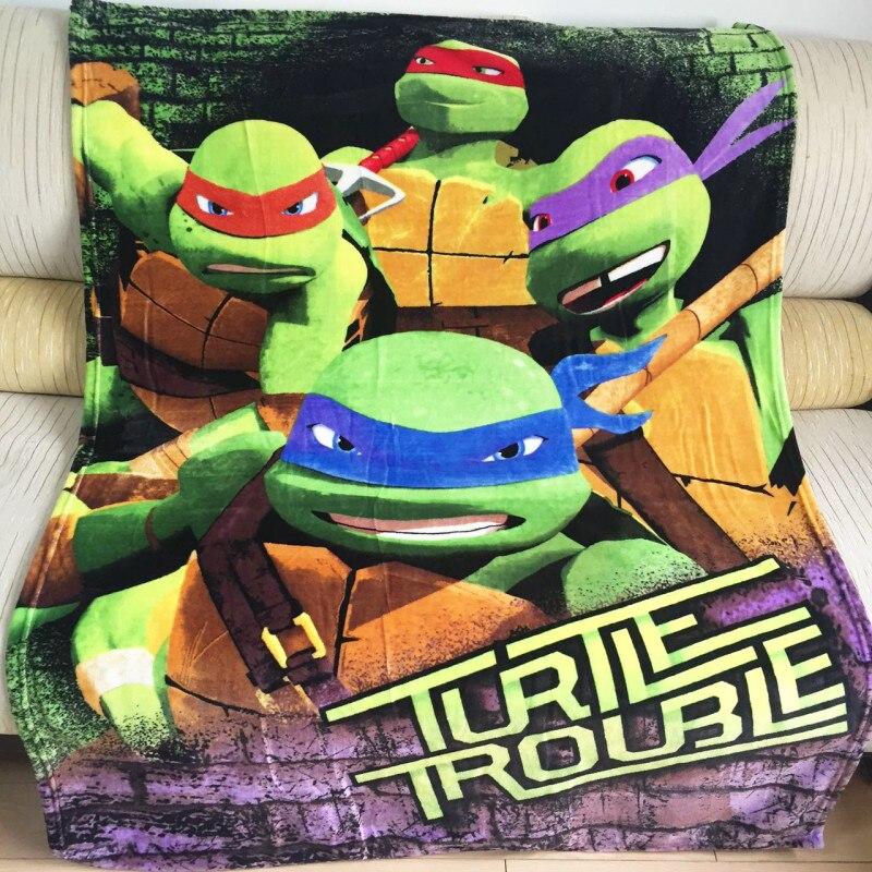 100x140cm Super Soft Warm Ninja Turtles Plush Throw Blanket for Children Birthday Gift