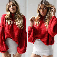sexy autumn and winter hot sale basic women sweaters computer knitted batwing sleeve turtleneck comfortable female