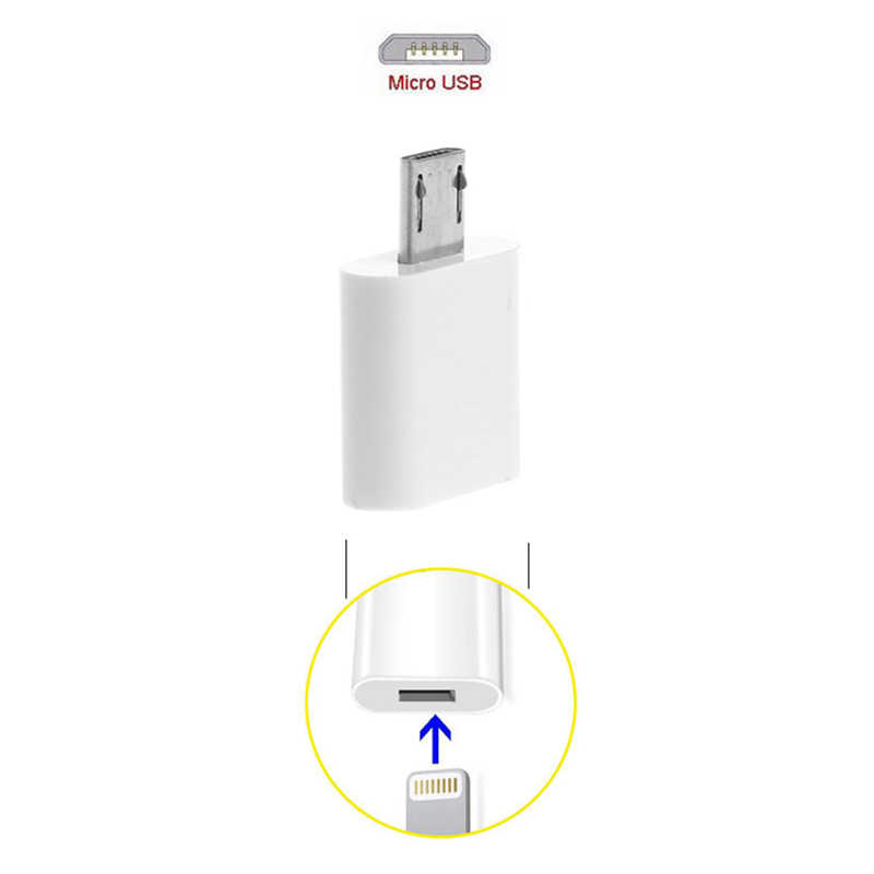TCAM のための 8 ピン雷メスマイクロ USB オスアダプタのコンバーターへ LG Xiaomi Huawei-M55