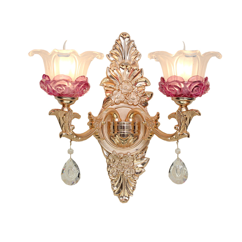 Bathroom Wall Lamp Gold led Crystal Wall Sconce Rose Gold ...