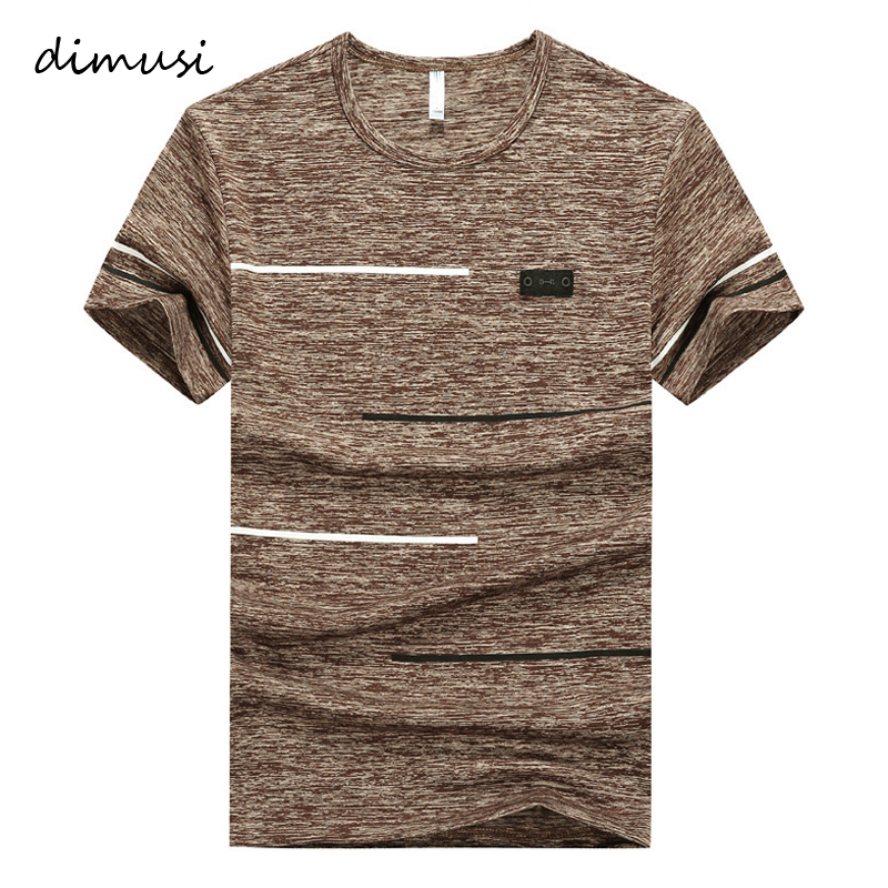 DIMUSI Summer Men T-shirts Fashion Mens Cotton O-Neck Short Sleeve T Shirts Men Gyms T Shirt Fitness Bodybuilding Tees Tops 9XL