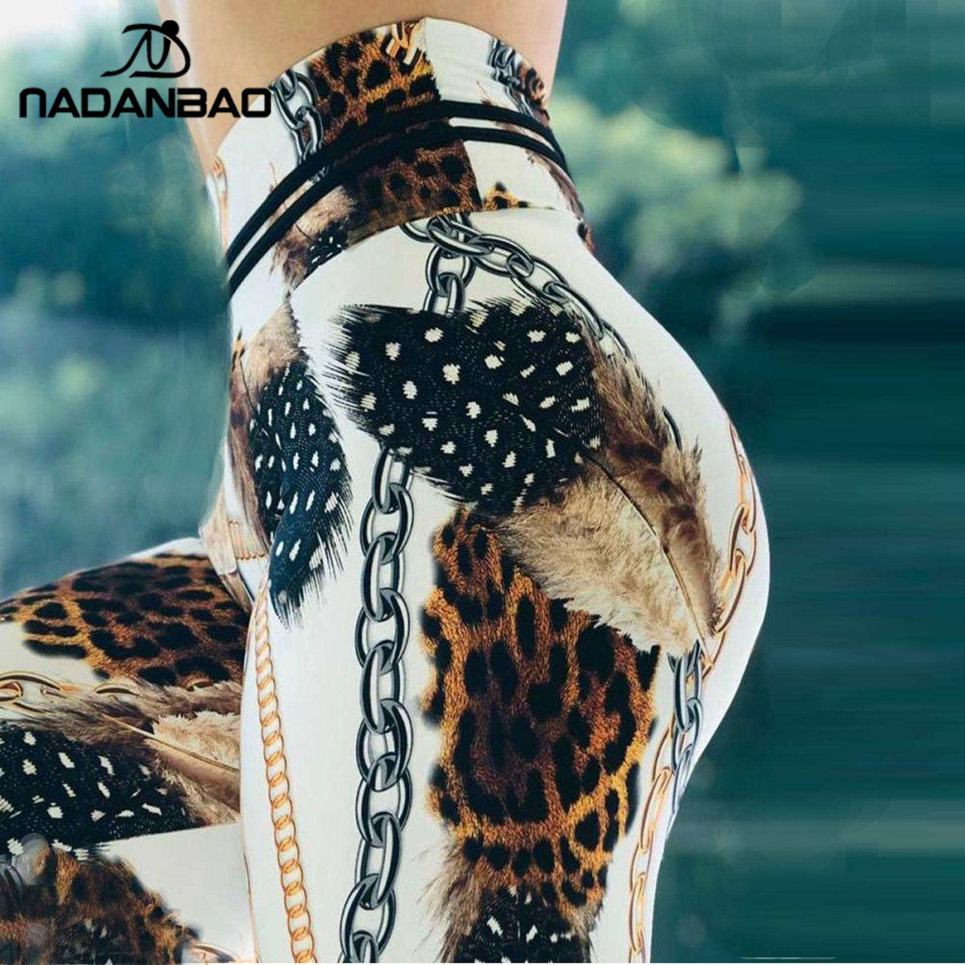 NADANBAO New Leopard Women Legging For Fitness Ankle Pants Outdoor Sporting Leggins Push Up Sexy Legins Workout