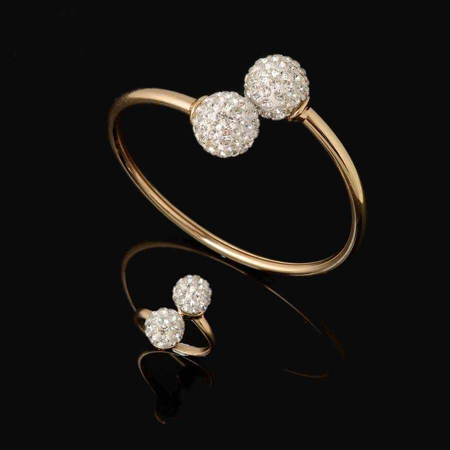 2016 HEIßER dubai Gefüllt Frauen Partei Schmuck-Set Frauen Hochzeit Halskette Armband Ohrring Ring Afrikanische Perlen Schmuck Set