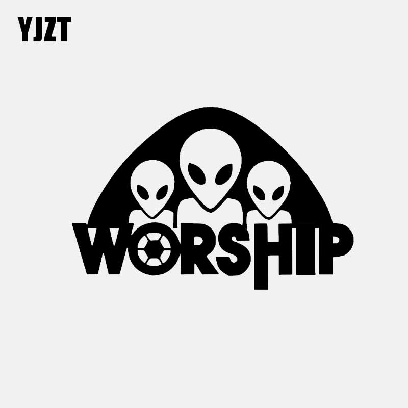 Automobiles & Motorcycles Shop For Cheap Yjzt 15cm*9.7cm Ufo Alien Worship Car Sticker Vinyl Decal Black/silver C3-0540