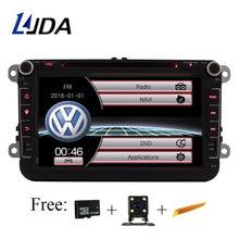LJDA Car Multimedia player For VW POLO PASSAT b6 golf 5 Skoda Octavia SEAT LEON wifi radio dvd automotivo GPS 2 Din Autoradio