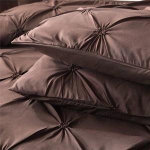 Image 2 - Новое постельное белье пододеяльник и наволочка 3D печать мрамора размер три пирога (без листов) спальня атласный лист