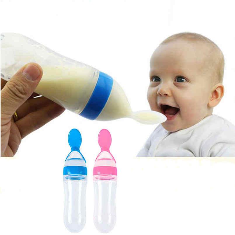 เด็กขวดขวดซิลิโคนบีบช้อนข้าวช้อนสำหรับเด็กจุกนมข้าวธัญพืช Pacifier อาหารแข็ง