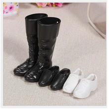 3 Pairs/Set Dolls Cusp Shoes Leather Boots for Ken Doll Barbies Boyfriend Toy