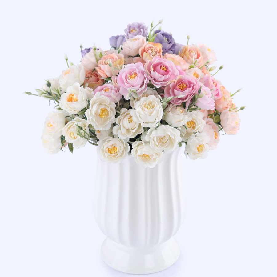 Hot sale 10 heads vivid small peony artificial flowers bouquet 10 heads vivid small peony artificial flowers bouquet autumn winter rose white silk fake lotus flowers wedding home decoration mightylinksfo