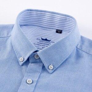 Image 4 - عالية الجودة رجل قمصان قميص قطني بكم طويل بلون فاخر الرجال قميص المهنية الأخضر الأبيض الذكور الملابس kamas دي Hombre
