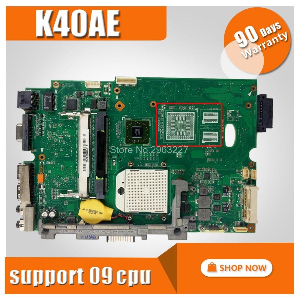 K40AE Motherboard For ASUS K40AE K40AF K40AB X8AAF K40AD K50AD K50AF Laptop motherboard K40AE Mainboard K40AE Motherboard k50af motherboard 512m 15 6 inch ram for asus k50af x5daf k40ab laptop motherboard k50af mainboard k50af motherboard test 100