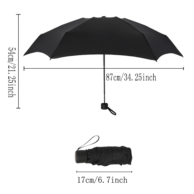 Folding Umbrella Anti-UV Waterproof Small Sunny Rainy Non-automatic Nylon Steel