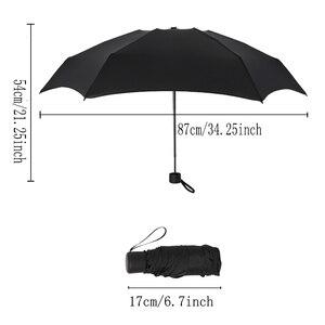 Image 3 - Guarda chuva dobrável para homens e mulheres, mini guarda chuva portátil com bolso, 180g, resistente à água, mini, de viagem