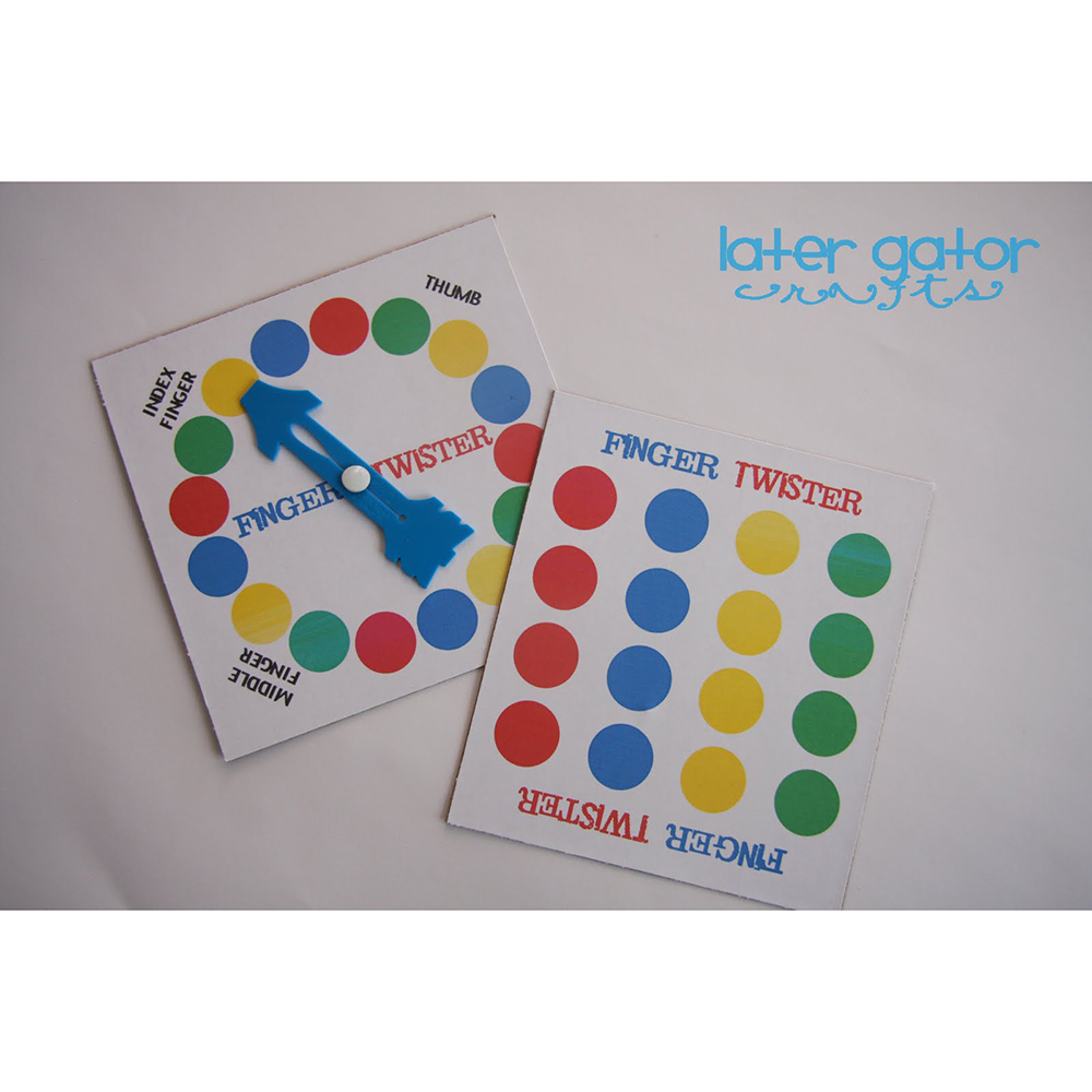 WholeSale 5 PCS/LOT Finger Twister Travel Game