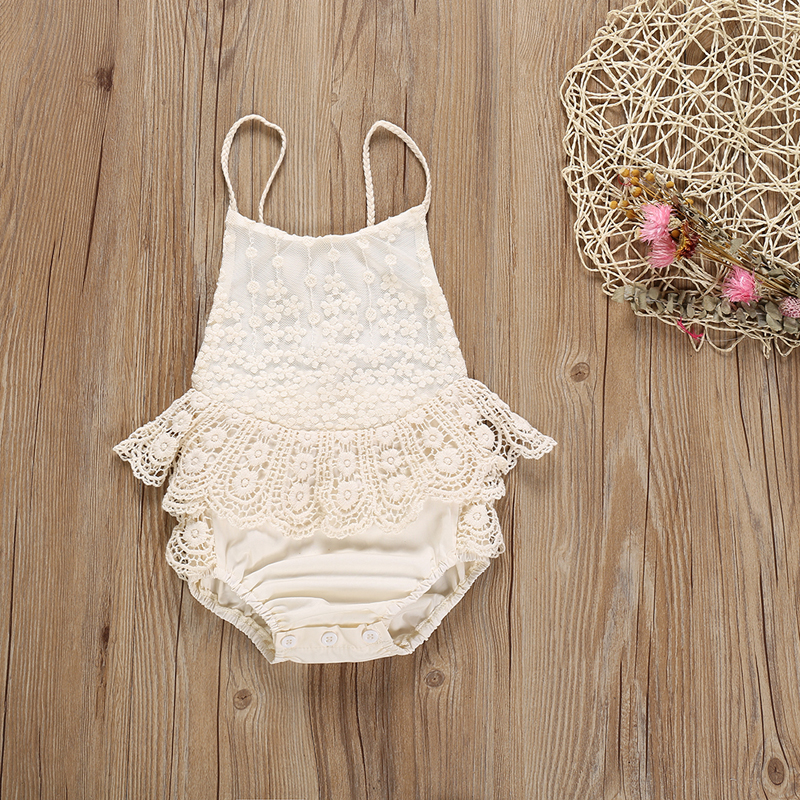 Toddler Baby Girl Romper Newborn Bodysuit For Infant Jumpsuit Summer Fashion Rompers Top Lace Suspender Baby Clothes Outfits