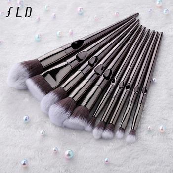 FLD 10Pcs Professional Makeup Brushes Set Kit Eyeliner Eye Shadow Face Powder Blush Brush Set Makeup Tools For Cosmetic 2