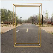 New wedding props wrought iron geometry road stage screen decoration creative background frame