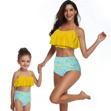 2019 New Sexy Women Bikini Swimwear Girls Kids Swimsuit Bikinis Set Mother Daughter Child Swimming Swim Suit Beachwear Bathing