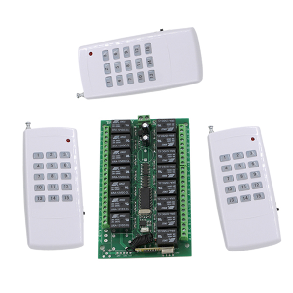 15CH DC24V RF Home Automation Remote Control Switch 315/433MHZ Transmitter and Recevier Wireless Switch Radio Smart Home Control dc24v remote control switch system1receiver
