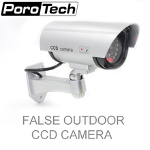CA-11A Nice Security Silver False Dummy Camera CCTV Outdoor CCD Fake Camera Red LED Light New Dummy Camera indoor or outdoor