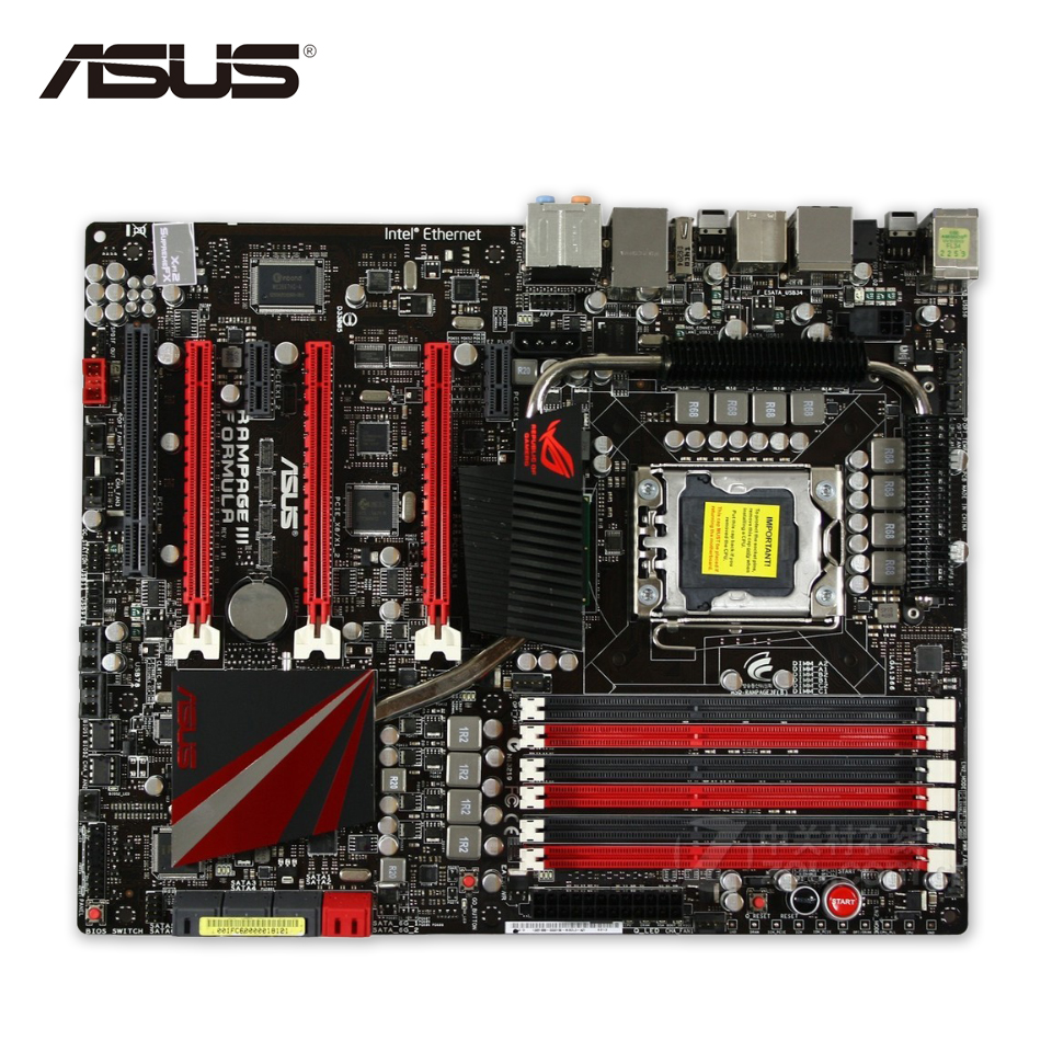 Asus Rampage III Formula Desktop Motherboard X58 Socket LGA 1366 i7 DDR3 24G SATA3 USB3.0 ATX Second-hand High Quality vista iii usb 3 0 450