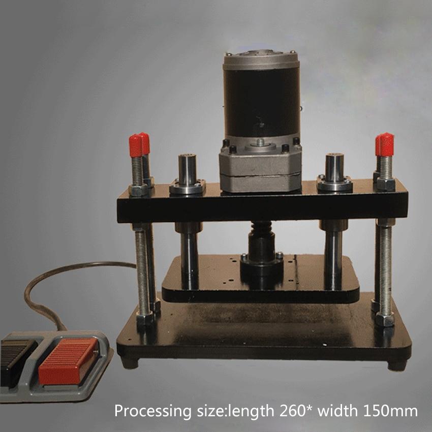 Aletler'ten Delme Makinesi'de Yeni 110 220V 200W elektrikli standart küçük kalıp kesici basın EVA PVC kalıp kesme makinesi deri düzleştirme makinesi (260*150mm) title=