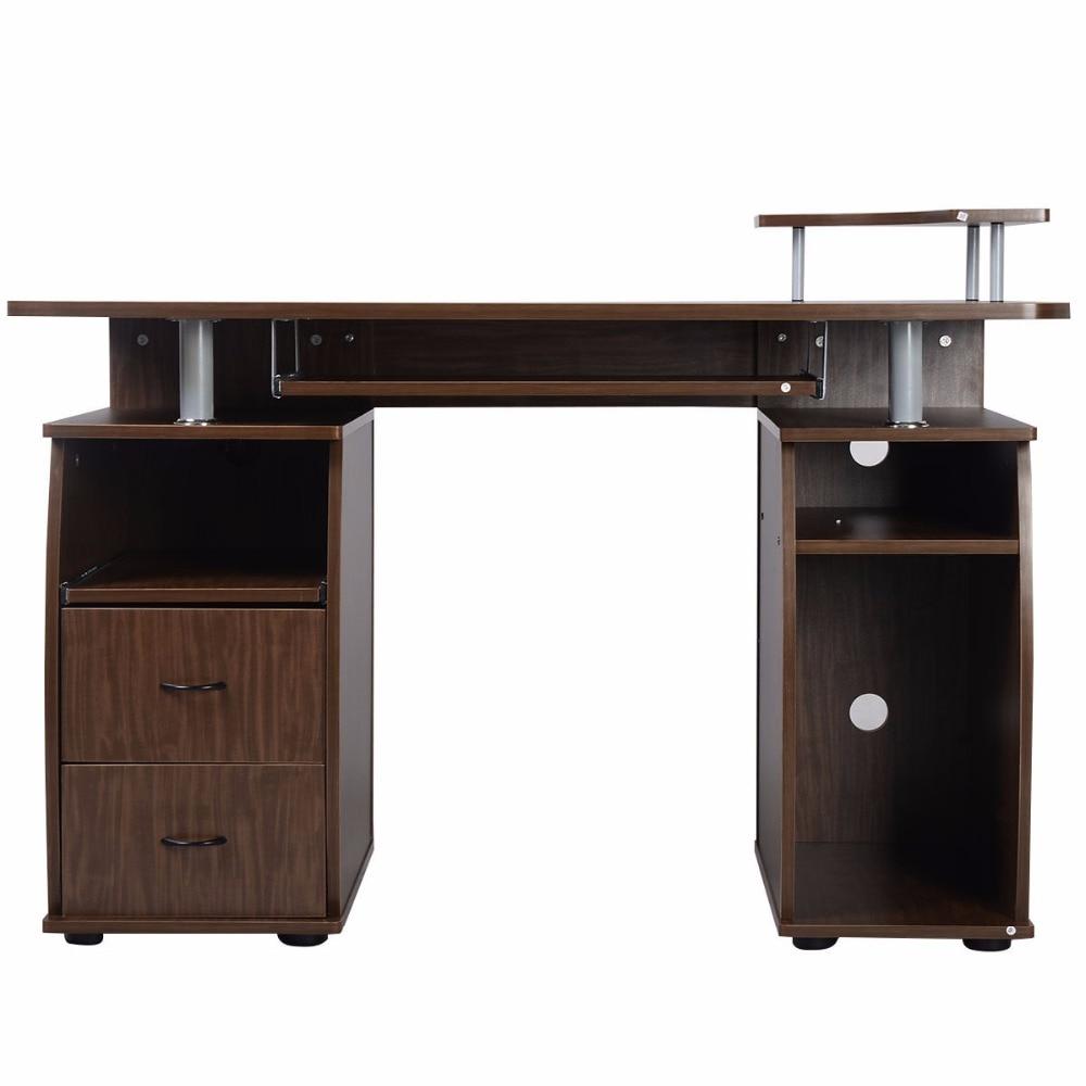 Marvelous Goplus Computer PC Desk Work Station Office Home  Monitoru0026Printer Shelf Furniture Modern Office Desk With