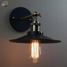 AC110 240V E27 Retro Industrial Vintage Wall Lamps American Country Style Wall Light Restaurant Cafe Bar Study Home Decor Lamp