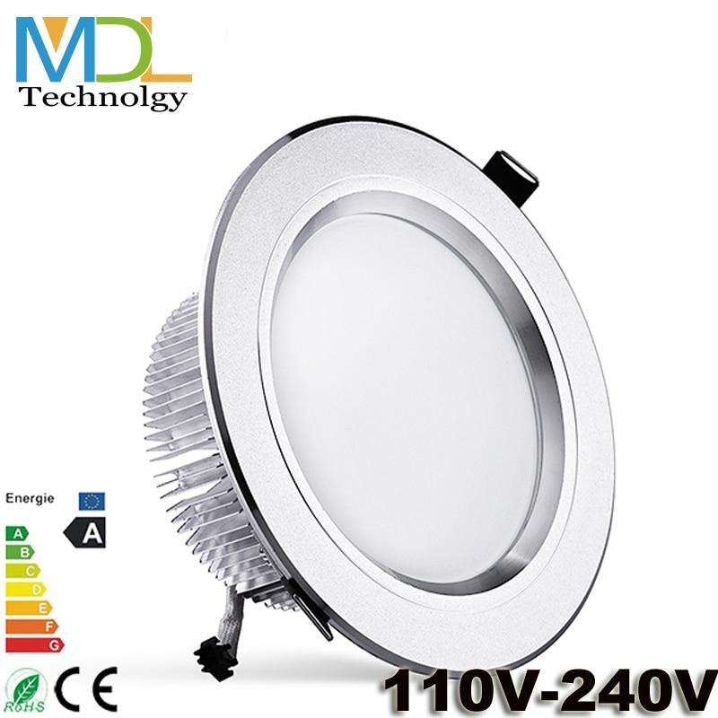 NEW Ceiling LED Down Light 3W 5W 7W 9W 12W 15W 18W IP44 Recessed Spot Lamp Lamparas De Techo For Kitchen Bathroom With Driver