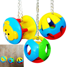 Pet Bird Biting Stick Parrot Chewing Toy Birds Chew Ball Swing Cage Hanging Cockatiel Playing Things Bird Keepper Accessory