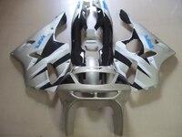 Бесплатная 7 подарки Moto частей обтекателя комплект для KAWASAKI ZX6R 94 95 96 97 серебро черный Обтекатели набор ниндзя ZX6R 1994 1997 ot24
