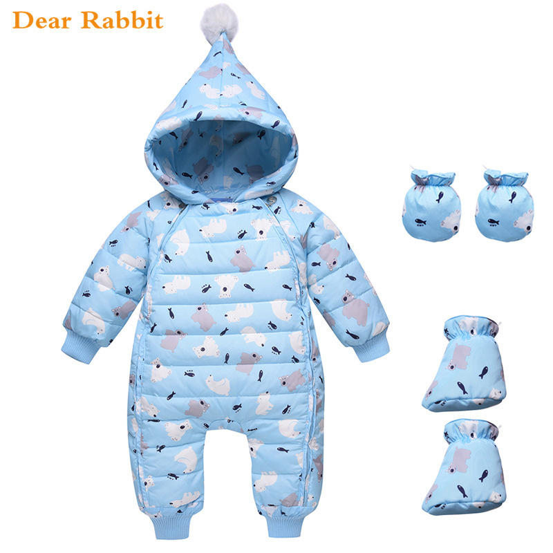 Russian Winter Jumpsuit Newborn Baby Rompers Clothing Snowsuit Down Jacket For Girls Coats Park For Infant Boy Clothes Snow Wear