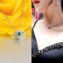US $1.84 32% OFF|SINLEERY Fashion Charm Luck Turkey Blue Evil Eye Blue Rhinestone Eye Choker Necklace For Women White Gold Color XL656 SSC-in Choker Necklaces from Jewelry & Accessories on AliExpress - 11.11_Double 11_Singles' Day