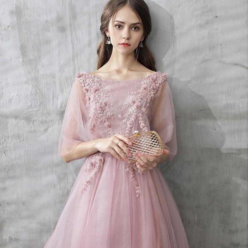 2019 nuevo vestido de fiesta de fantasía Rosa elegante bordado Floral mujeres vestido ajustado vendaje vestido largo 3 longitud disponible