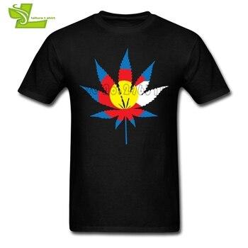콜로라도 위드 T 셔츠 남성 최신 성격 Tshirt 인기있는 여름 T-셔츠 남성 짧은 소매 크루 넥 참신 아빠 탑
