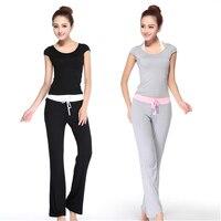 Summer Women Suit Short/Long Sleeve Tops + Pants Tracksuit Femme Survetement