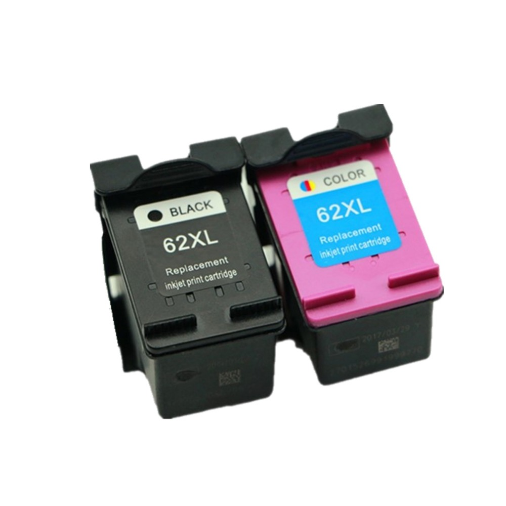 YLC 1set 62XL Compatible Ink Cartridges For HP62 XL For HP 5640 5660 7640 5540 5545 Officejet 5740 5743 5744 5745 Printer