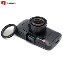 Junsun Mini Cámara Del Coche DVR de Ambarella A7 con Grabadora Dashcam GPS Grabador de Vídeo Full HD 1296 P Cuadro Negro