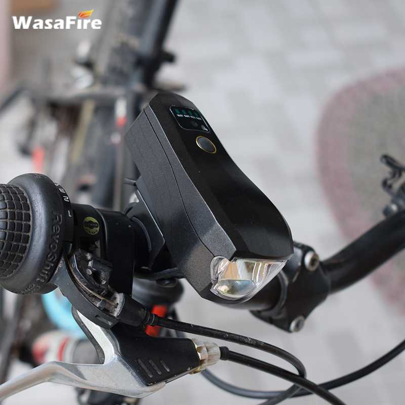 2017 WasaFire Bicycle Front Light USB Rechargeble XML-T6 LED 350LM Waterproof 5 Mode Intelligent Sensor Direction Black Cover